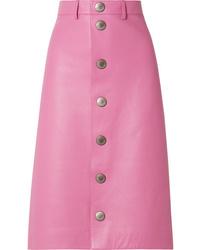 Ярко-розовая юбка на пуговицах