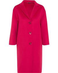 Ярко-розовое пальто