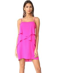 Ярко-розовое платье-комбинация