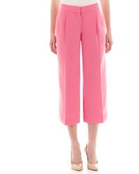 Ярко-розовые брюки-кюлоты