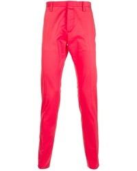 Ярко-розовые брюки чинос