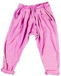 Ярко-розовые брюки