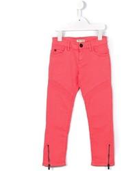 Детские ярко-розовые джинсы для девочке от Kenzo