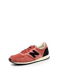 Мужские ярко-розовые замшевые кроссовки от New Balance