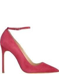 Ярко-розовые замшевые туфли