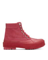 Женские ярко-розовые зимние ботинки от Jacquemus