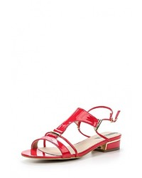 Ярко-розовые кожаные босоножки на каблуке от Betsy