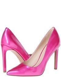 Ярко-розовые кожаные туфли