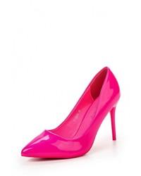 Ярко-розовые кожаные туфли от Sweet Shoes