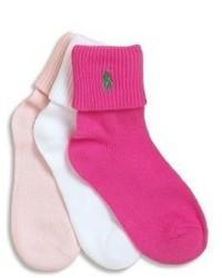Ярко-розовые носки