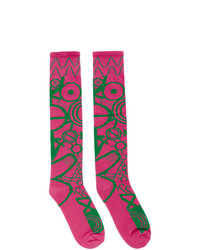 Мужские ярко-розовые носки от Charles Jeffrey Loverboy