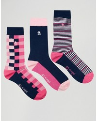 Мужские ярко-розовые носки от Original Penguin