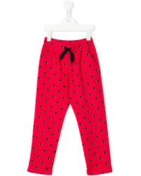 Детские ярко-розовые спортивные штаны для девочке от Kenzo
