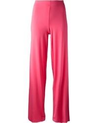 Ярко-розовые широкие брюки