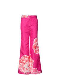 Женские ярко-розовые широкие брюки от Josie Natori