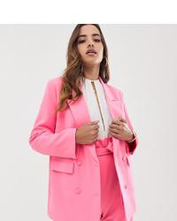 Женский ярко-розовый двубортный пиджак от Parallel Lines