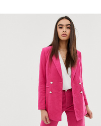 Женский ярко-розовый двубортный пиджак от UNIQUE21