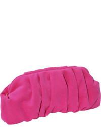 Ярко-розовый замшевый клатч