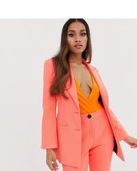 Женский ярко-розовый пиджак от Asos Petite
