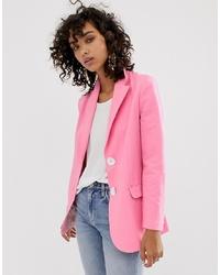 Женский ярко-розовый пиджак от ASOS WHITE