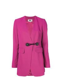 Женский ярко-розовый пиджак от MM6 MAISON MARGIELA