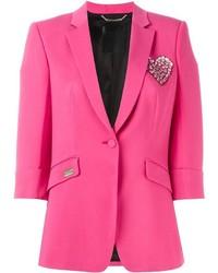 Женский ярко-розовый пиджак от Philipp Plein