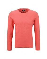 Мужской ярко-розовый свитер с круглым вырезом от s.Oliver Denim