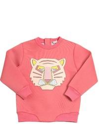 Ярко-розовый свитер с принтом