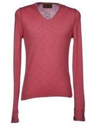 ярко розовый свитер с v образным вырезом original 4318983