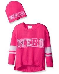 Ярко-розовый свитер