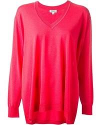 Ярко-розовый свободный свитер