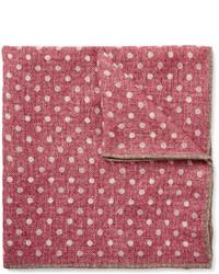 Ярко-розовый шерстяной нагрудный платок в горошек от Brunello Cucinelli