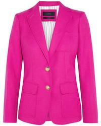 Женский ярко-розовый шерстяной пиджак от J.Crew