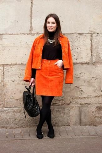 замшевая юбка с чем носить: