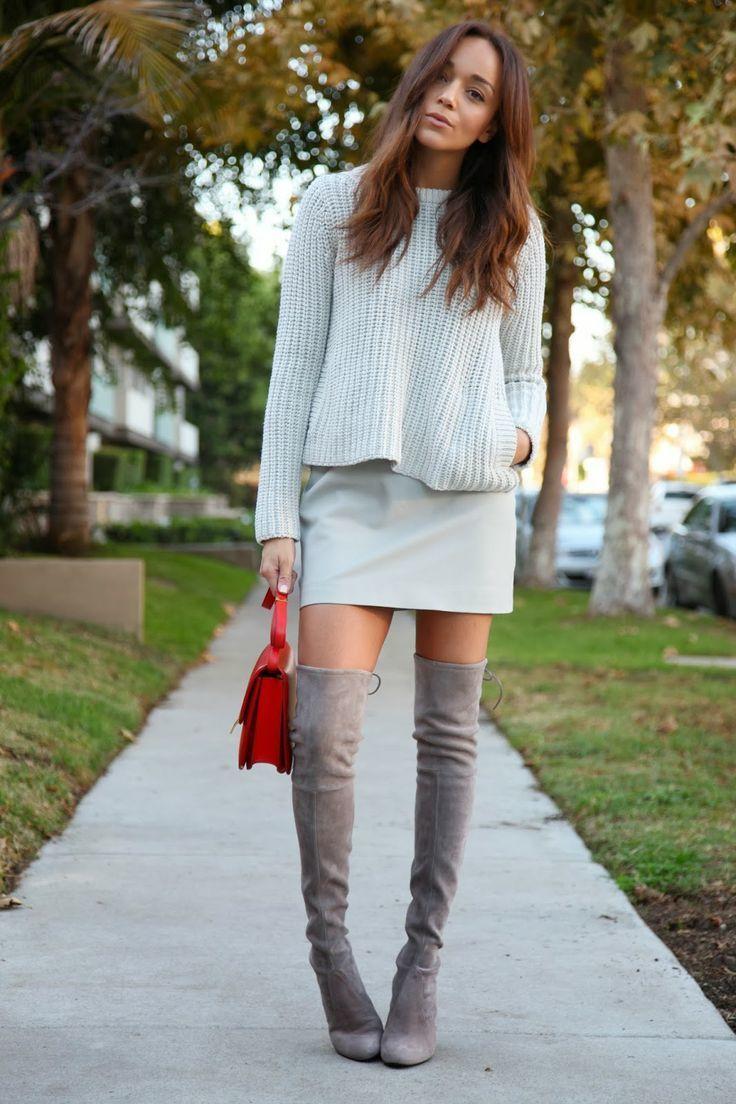 С чем носить замшевые ботфорты? | Самая любимая!
