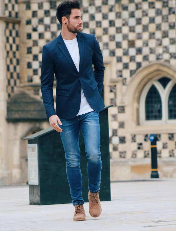 Chris blue jeans