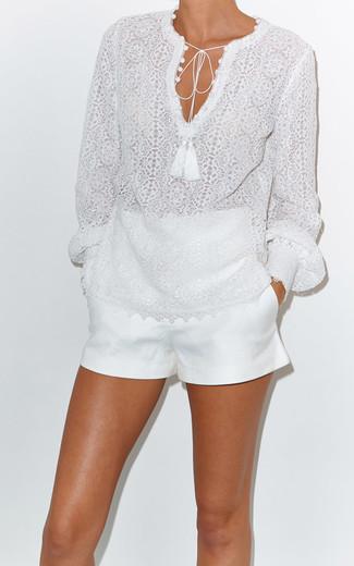 Белые шорты от Topshop