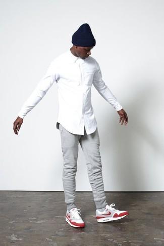 Мужские серые спортивные штаны от Topman