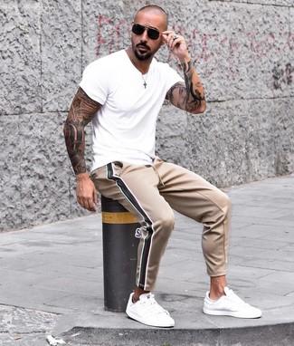 Мужские светло-коричневые спортивные штаны от River Island
