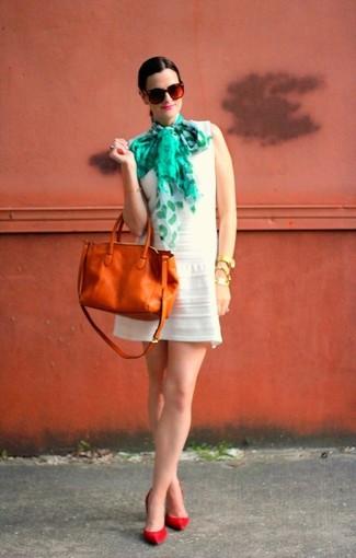 Табачная кожаная большая сумка от Chantal