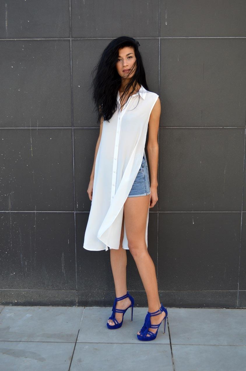 Женское шифоновое платье фото