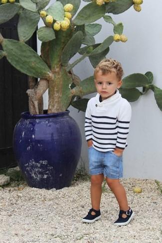 Детские голубые джинсовые шорты для мальчику от Finger In The Nose