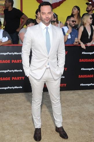 белый костюм белая классическая рубашка темно красные оксфорды large 26355