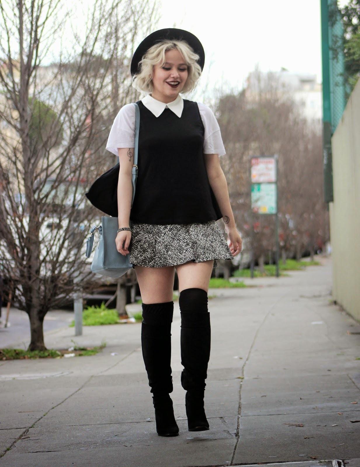 Блузка юбка сапоги