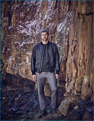 Мужские серые шерстяные классические брюки от Ted Baker