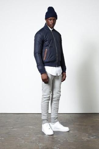 Мужские серые спортивные штаны от adidas Combat