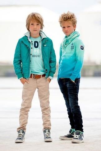 Детские темно-синие кеды для мальчиков от Stella McCartney