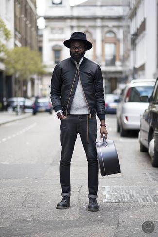 Черные кожаные туфли дерби от Marsèll