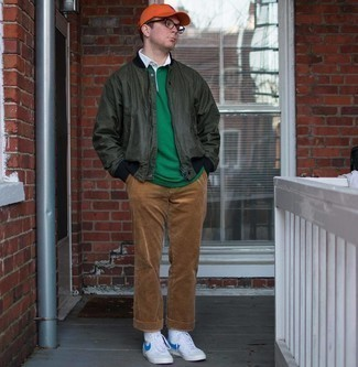 Мужская зеленая футболка-поло от Merc