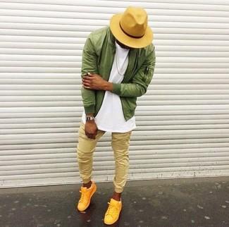 Мужские желтые низкие кеды от Nike